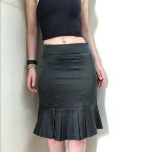 Isolation threads pinstripe corporate goth skirt